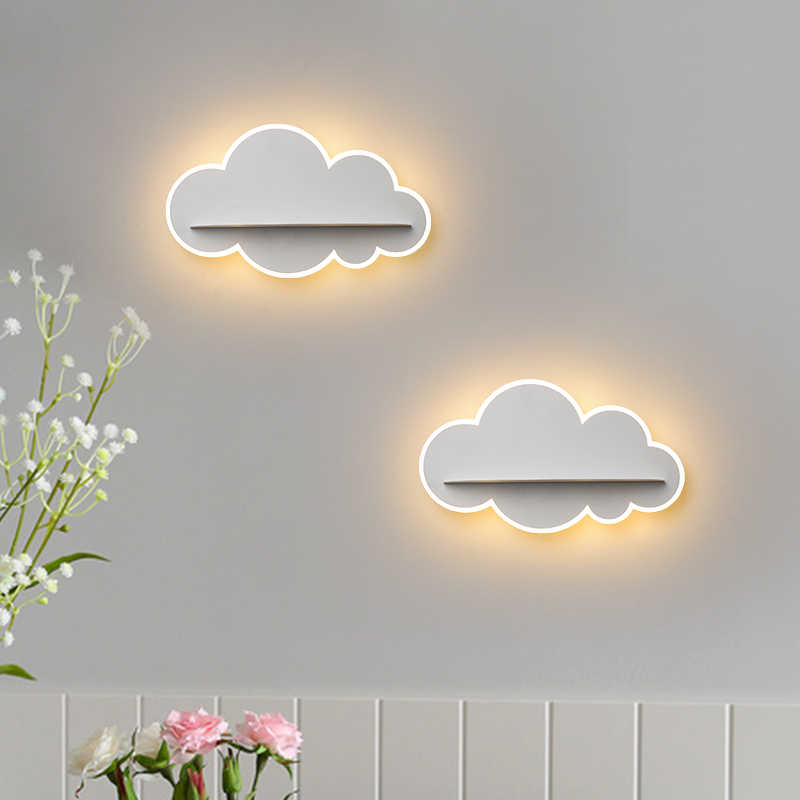Lámpara de pared LED nube luz de noche lámpara de pared creativa para pasillo moderna lámpara de pared para cabecera