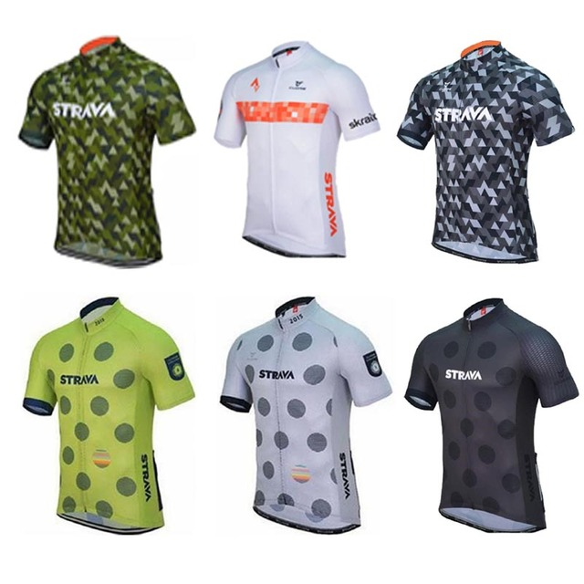 2019 Summer Strava Team Men Cycling Jersey Short Sleeve Ropa Ciclismo  Uniformes Bike Clothing Breathable Bycicle cycling shirts-in Cycling Jerseys  from ... ba1783201