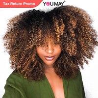 Короткий парик Ombre блондинка странный вьющиеся закрытия шнурка парик для Для женщин 180% 1b 4 27 цветной парик бразильский вы можете Волосы remy
