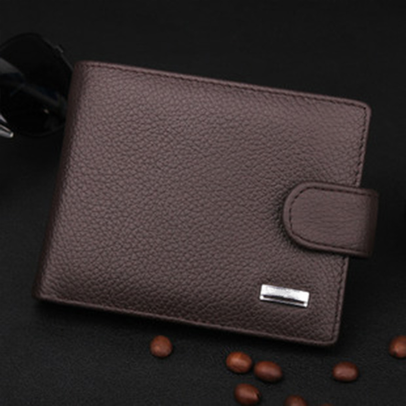 Hot Selling Vintage Men Wallets Luxury PU & Genuine Leather Purses Short Casual Male Card Holder carteira Brand Wallet