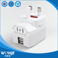 CH 153 2 USB Universal Charger Travel Adapter Charger EU UK USA AUST Portable Wall Charger