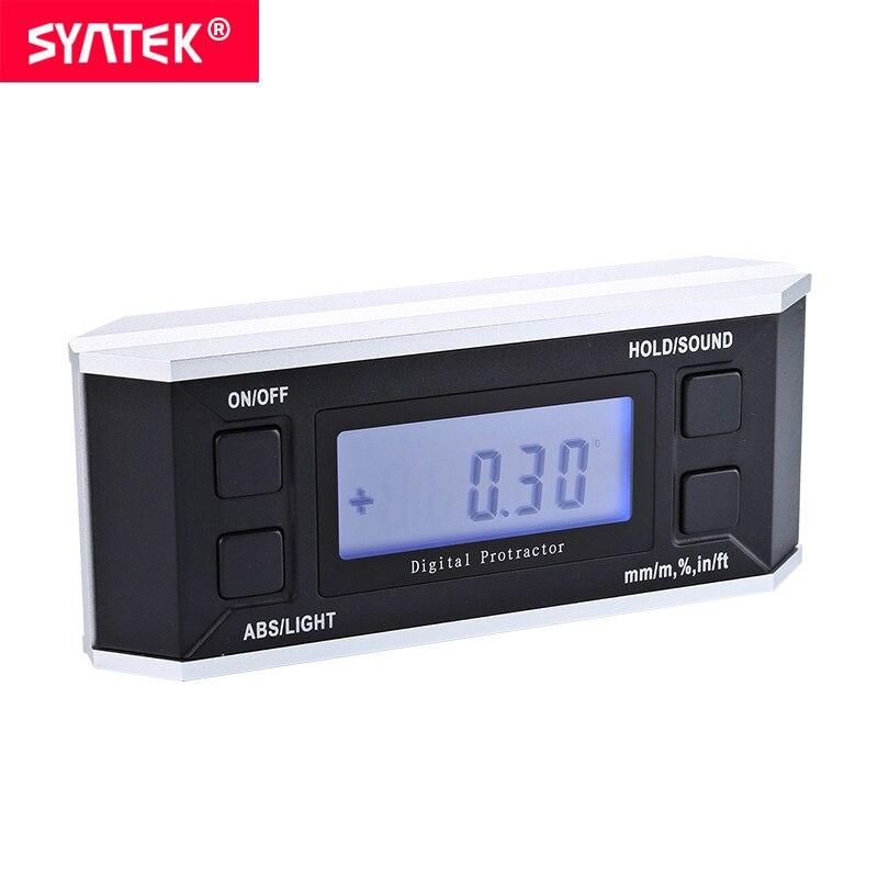 Syntek digital protractor inclinometer Level box with magnet illuminate digital angle finder Bevel Box cube gauge