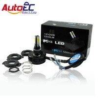 AutoEC 50ชิ้นH4 H6 H7 20วัตต์2200LMนำสูงต่ำหลอดไฟหน้ารถจักรยานยนต์แปลงลำแสงไฟหน้าขับรถMotoไฟ