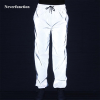 Men full 3M reflective waterproof Casual Pants Skateboard Dance Trousers Hip Hop Men Harajuku Night Sporting Jogger Sweatpants