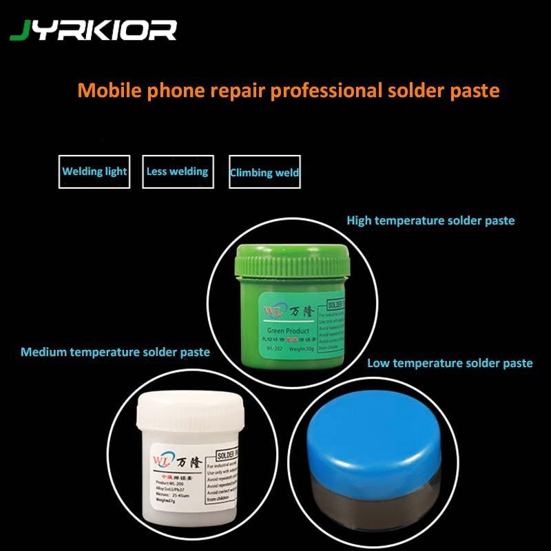 Jyrkior Grey Lead-Free Soldering Paste Solder Flux Paste Cream Welding Tin For Mobile Phone Mainboard Maintenance BGA Rework
