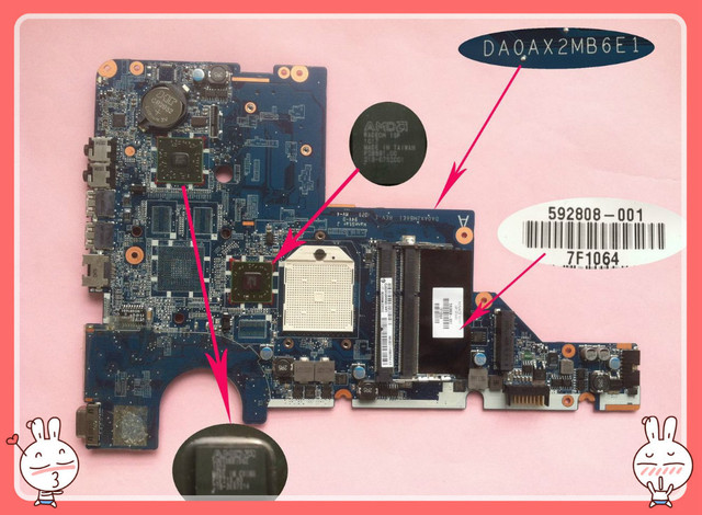 CQ62 motherboard CQ62z motherboard 592808-001 DAOAX2MB6E1 AMD DDR3 for HP COMPAQ PRESARIO CQ62 and 100% fully test well