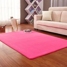 16 Color High Quality Short-haired Coral Velvet Carpet Bedroom Floor Mat Living Room Cushion Coffee Table Blanket Rug 160x200cm