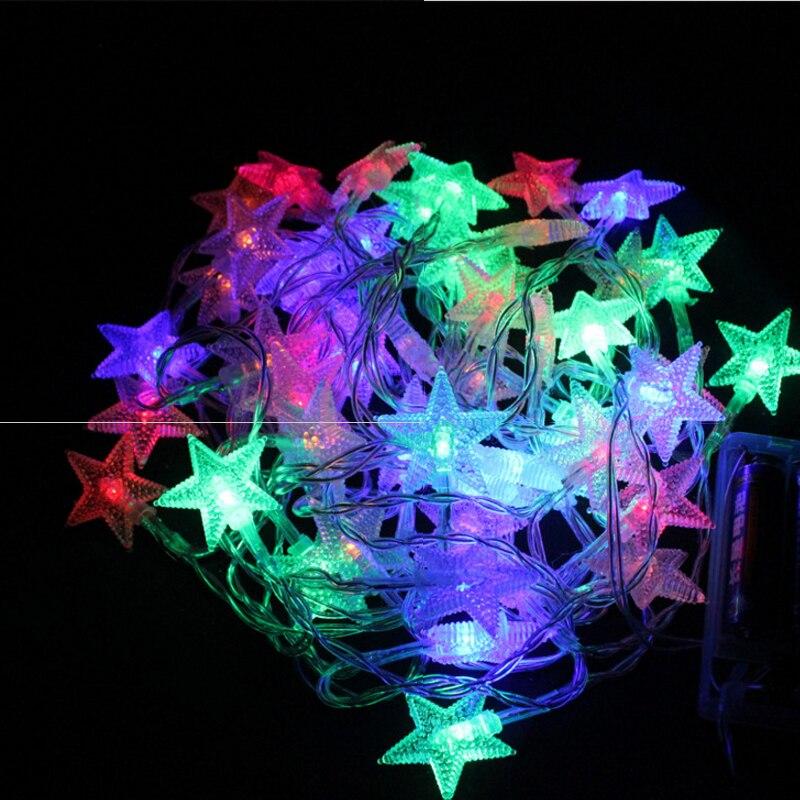 SLTMAKS Commencer Plug dans électrique 10 m 20 m 30 m 50 m LED Chaîne Lumières pour Guirlande De Mariage De Partie décoration De Noël éclairage extérieur
