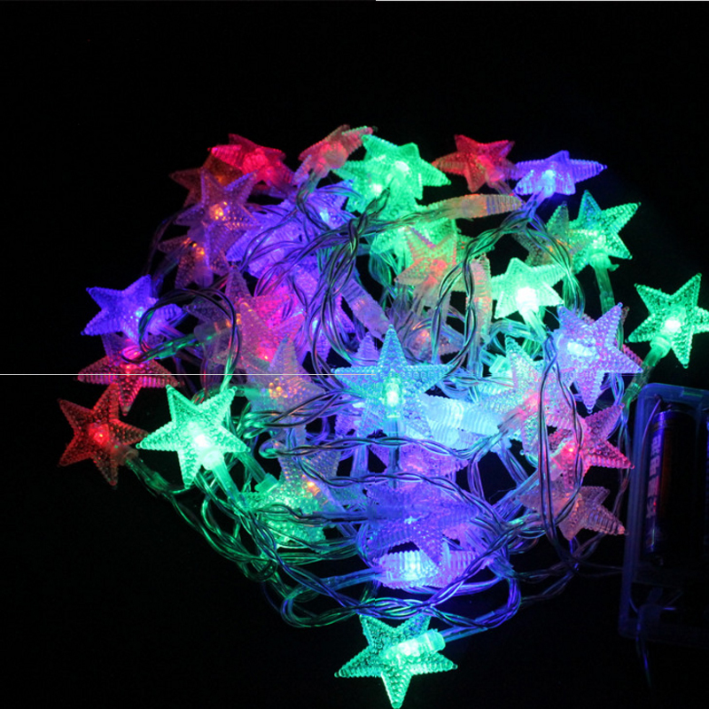 SLTMAKS Start Plug in electric 10m 20m 30m 50m LED String Lights for Garland Party Wedding Decoration Christmas outdoor lighting