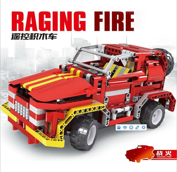 Nouvelle idée cadeau garçons 8002 ciel étoilé RC télécommande brique jouet voiture bloc véhicule Machine Radio camion facile construire conduire jouets