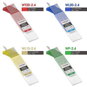 "Image 2 - YESWELDER 10 adet/takım kaynak çubuk Tungsten elektrot 175mm/7 ""1.0 1.6 2.4 3.2 4.0/0.04"" 1/16 ""3/32"" 1/8 ""5/32"""