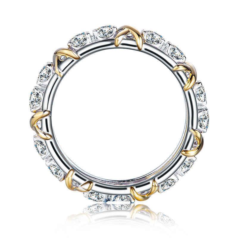Choucong Wieck Брендовое дизайнерское ювелирное изделие 925 пробы серебро AAA CZ камни свадебные женские обручальные кольца Золотое кольцо подарок Размер 5-11