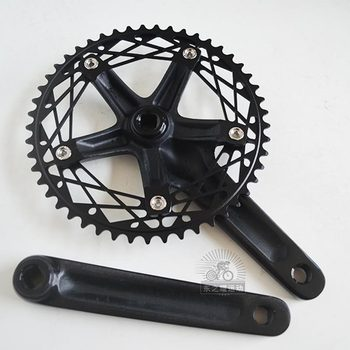 Q284  dead fly 412 folding bike 49T ultra-light CNC hollow retro speed spider single-speed tooth plate disk crank & Chainwheel