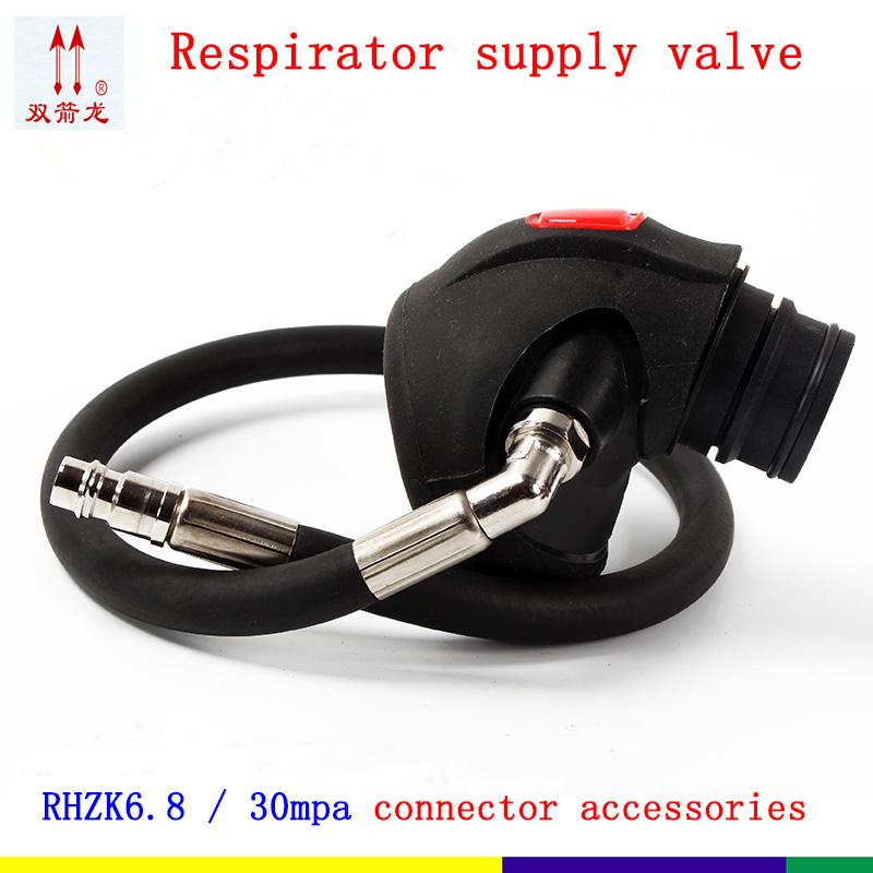 Positive pressure  RHZK6.8/30mpa Supply valve Universal Fire air Respirator Supply valve Mask gas supply 13mm male thread pressure relief valve for air compressor