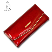 Beth Cat Genuine Leather Women Wallet Luxury 2017 Fashion Cow Leather Hasp Long Wallets