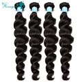 Malaysian Virgin Hair Loose Curly Hair Bundles 100% Human Hair Weave 4Pcs/Lot Malaysian Loose Wave Rosa Queen Hair Products