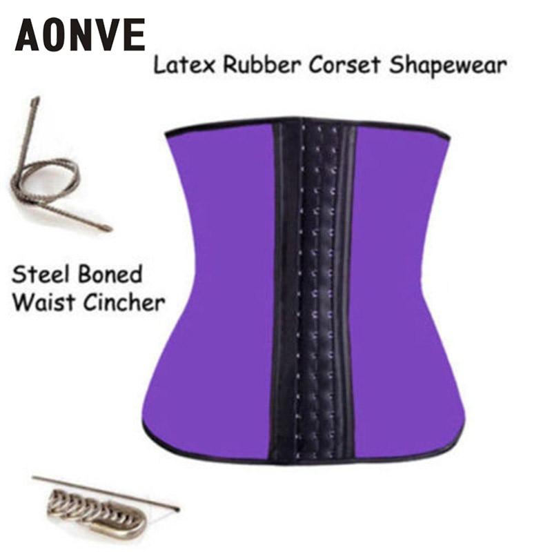 6d705820ef Modeling Strap Latex Waist Trainer Body Shaper 9 Steel Bone Waist Corset  Latex Waist Cincher Slimming Belt Shapewear-in Waist Cinchers from Women s  Clothing ...