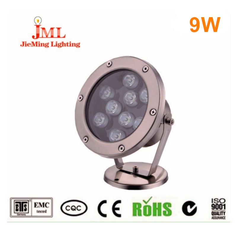 DC12V 24V 9W outdoor light CREE chip swimming pool lamps warm cold white fountain pool light