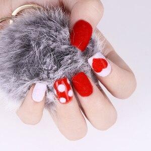 Image 3 - 10Ml Fuzzy Stroomden Kleurrijke Stof Voor Diy Nail Kerst Decoratie Fluwelen Nail Glitter Poeder Voor Nagellak
