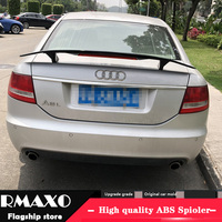 For Audi A6 Spoiler 2014 2018 Audi A6 A7 TF High Quality Spoiler ABS Material Car Rear Wing Primer Color Rear Spoiler