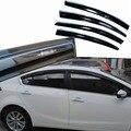 4 pcs Janelas de Ventilação Viseiras Chuva Guarda Sol Escudo Escuro Defletores Para Kia K3 2013