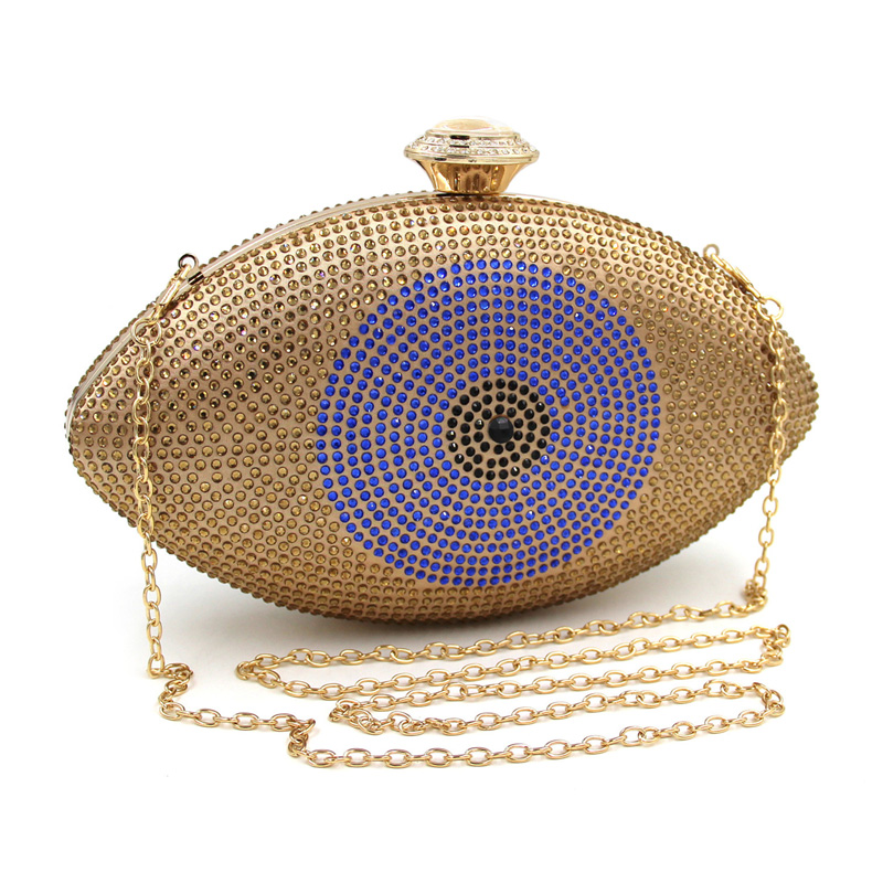 цена на Gold Blue Eye Bag Women Clutch Bag Silver Evening Bag Femme Pochette Bag Luxury Crystal Day Clutch Bling Party Girly Purse Gift