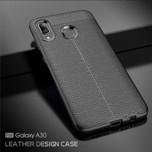 Cover For Samsung Galaxy A30 Case Luxury Rubber Soft Silicone Phone PU Fundas