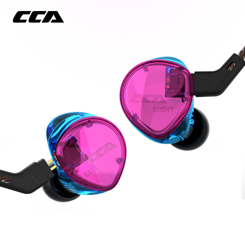 CCA C04 1BA 1DD Hybrid In Ear Earphone HIFI DJ Monitor Running Sport Earphone Headset Earbud