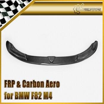Araba Styling Için BMW F82 M4 Karbon Fiber PSM Stil Ön Dudak Difüzör Altında Parlak Fiber Tampon Splitter Oto Yarış vücut Kiti