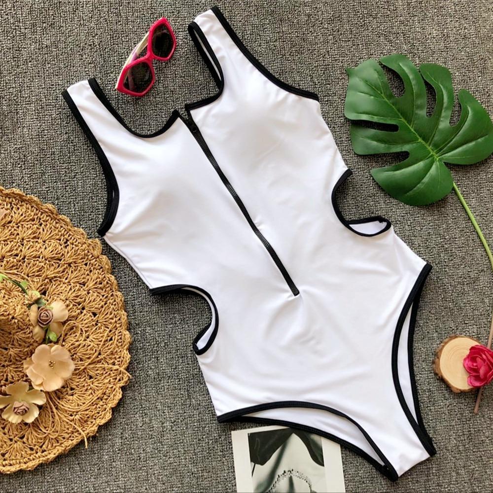 Zipper Bodysuits One-pieces Swimsuit 10