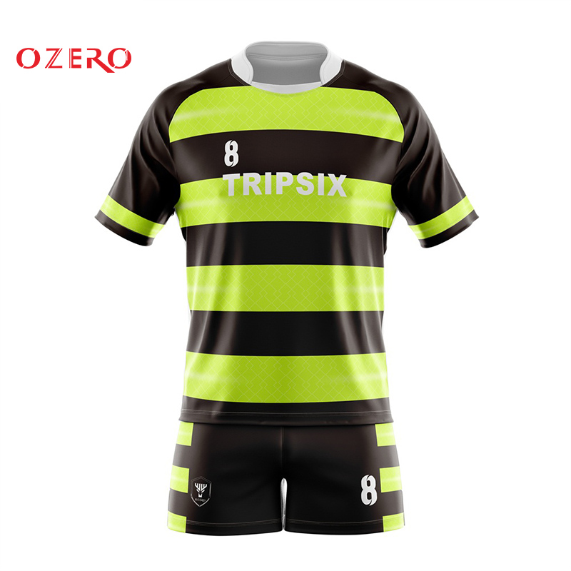 9860dbf4b7c Green And Yellow Unique Australia Rugby Jersey Kit Designer-in Rugby ...