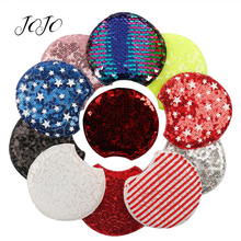 JOJO BOWS 2pcs Sequin Patches Mickey Ears Accessories DIY Handmade Craft Supplies Materials For Sewing Doll Decoration