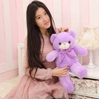 The lovely lavender teddy bear doll plush purple teddy bear toy birthday gift about 60cm