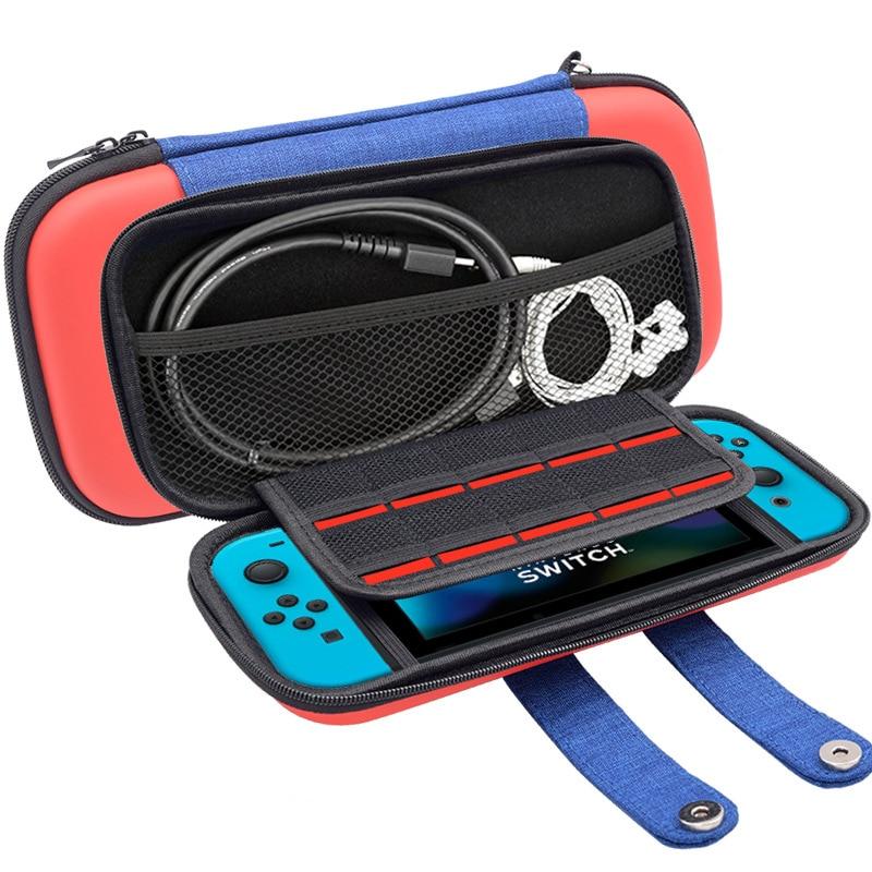 Tragbare Fall für Nintend Schalter PU Durchführung Gaming Lagerung Tasche Hard Shell Tasche für Nitendo Schalter NS Konsole Zubehör