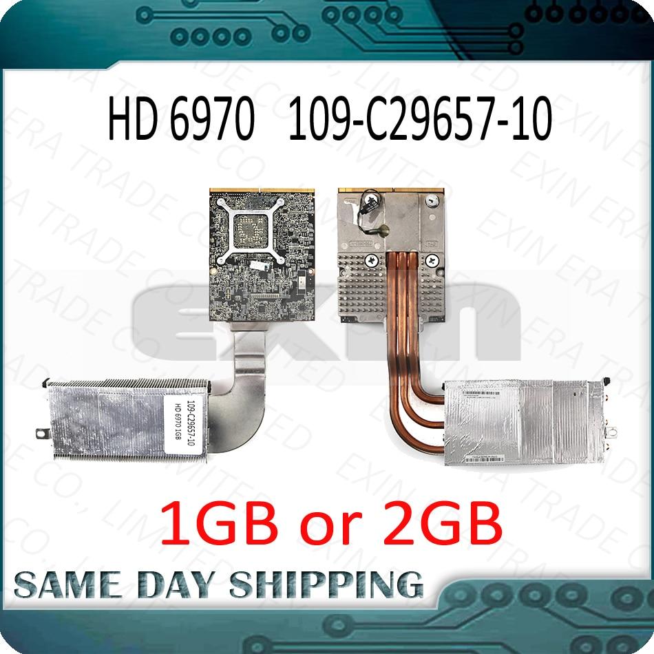661-5969 661-5968 pour Apple iMac 27 A1312 Radeon HD6970 HD 6970 m 1 gb 2 gb VGA Carte Graphique Vidéo avec Radiateur 109-C29657-10