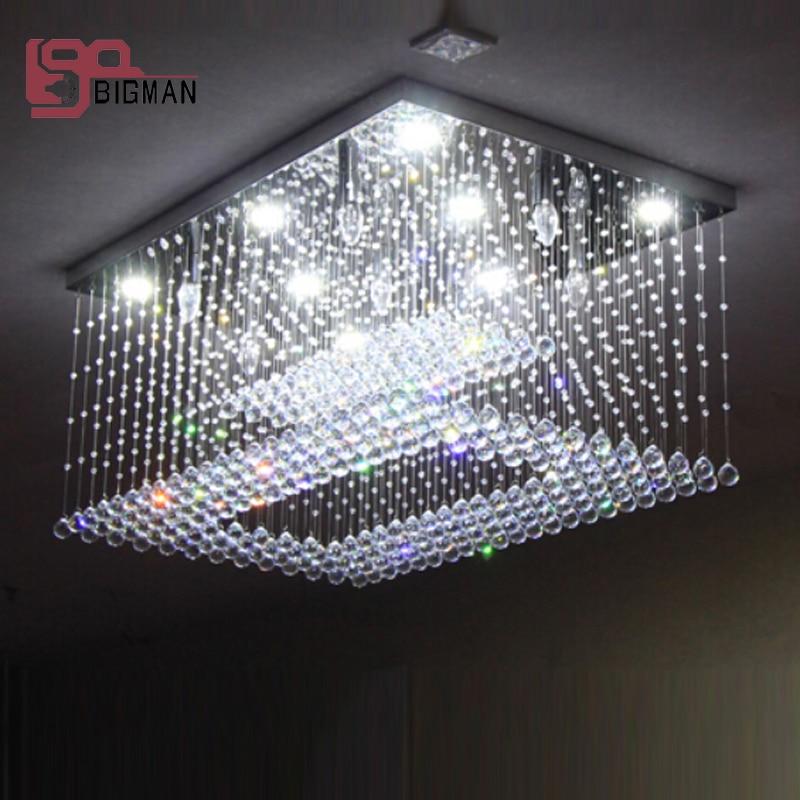 buy new design flush mount crystal chandelier led lamp lustre living room. Black Bedroom Furniture Sets. Home Design Ideas