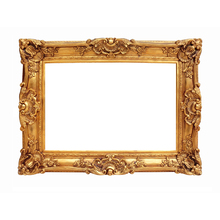 European retro wedding photo frame multi-size golden picture creative wall-mounted studio
