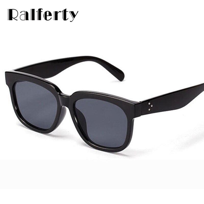 Click here to Buy Now!! Ralferty Femmes Flat Top Lunettes De Soleil  Oversize UV400 Designer Lunettes de Soleil Femelle ... a4a04507cb14