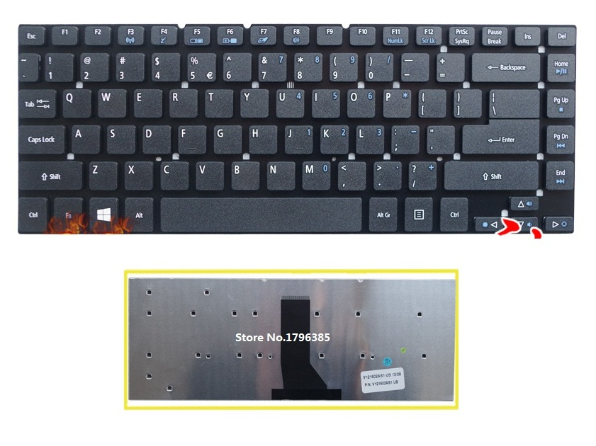SSEA New US Keyboard For <font><b>Acer</b></font> <font><b>Aspire</b></font> 3830 3830G 3830T <font><b>3830TG</b></font> 4755 4755G 4830 4830G 4830T 4830TG V3-471 laptop Keyboard image