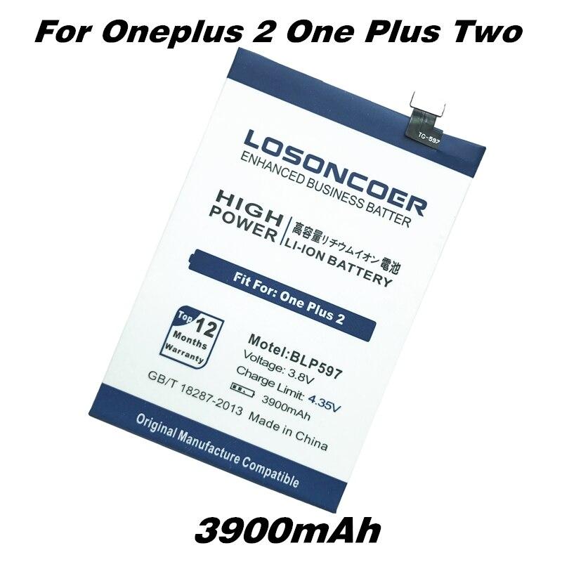 imágenes para LOSONCOER BLP597 3900 mAh Baterías para Oneplus 2 Uno Más Dos Batería del Teléfono Móvil
