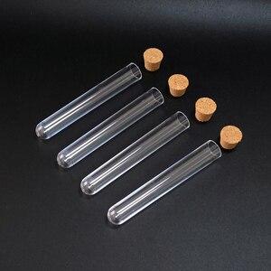 Image 5 - 100 pcs 15*100mm (5.9 * 39.3in) ברור פלסטיק מבחנה עם פקק פקק U צורה תחתון כמו זכוכית מבחנת חתונה טובה בקבוקון