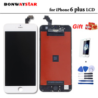 AAAA LCD Screen For iPhone 6p 6 plus Display Assembly Replacement Touch Screen Digitizer free tools tempered glass flim