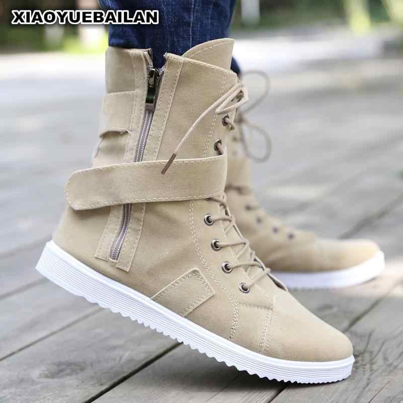 Новая зимняя теплая мужская обувь на высоком каблуке мужские ботинки плотные