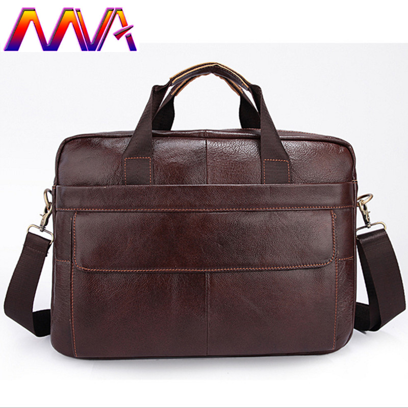 MVA Fashion genuine leather men briefcase of cheap price leather laptop briefcase bag with cow leather men computer shoulder bag стоимость