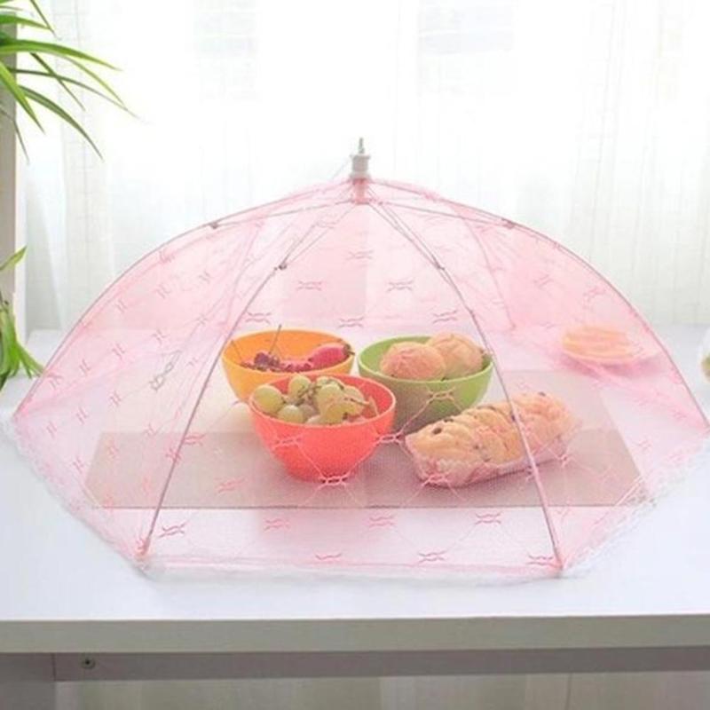 4pcs nourriture couvercle dôme de grande Pliable Maille Parapluie Fly Net Pop Up plaque