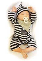 50 cm Moda Reais Renascer Boneca Recém-nascidos Bebês de Silicone Macio para Venda Full Vinyl Renascer Baby Dolls Crianças Presentes