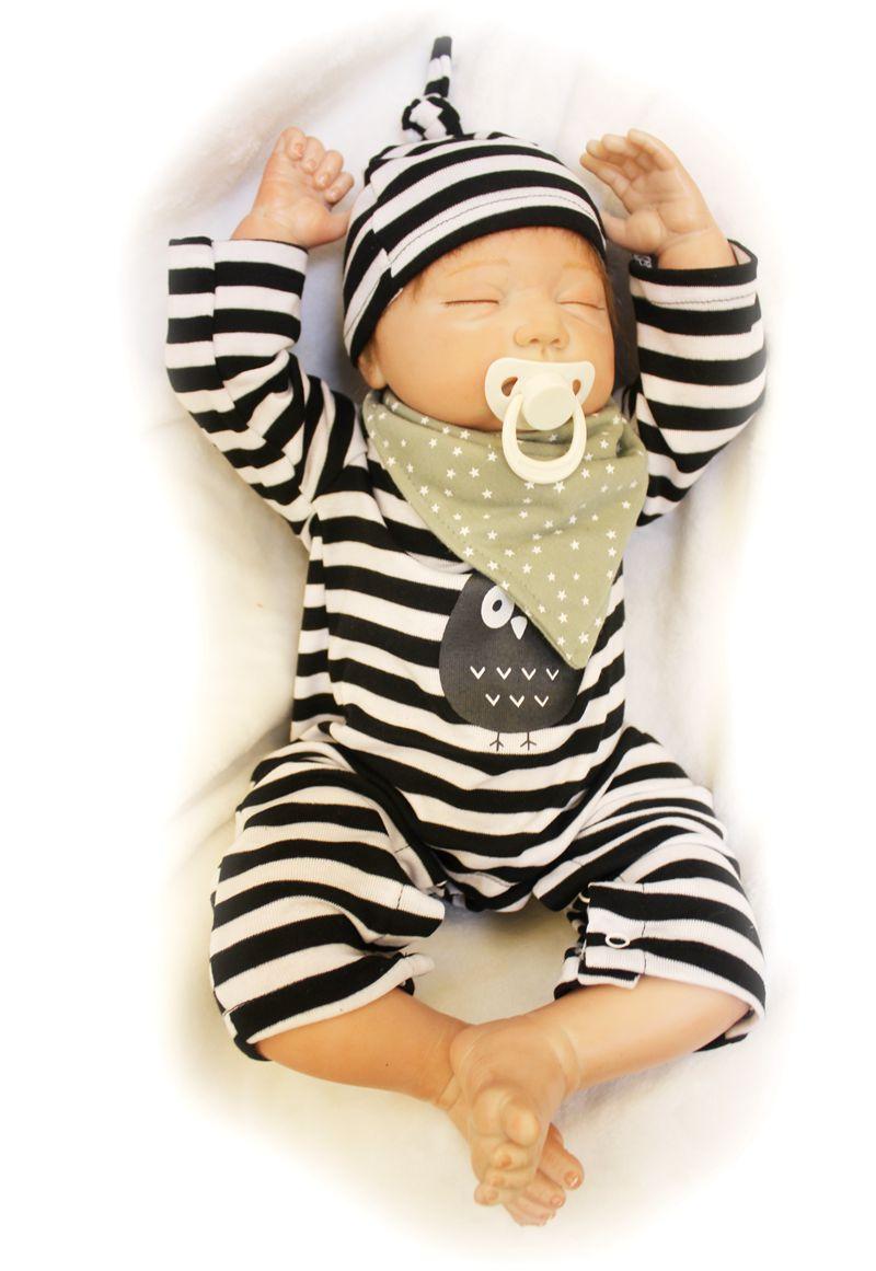 50 cm mode réel Reborn doux Silicone poupée nouveau-né bébés à vendre plein vinyle Reborn bébé poupées enfants cadeaux