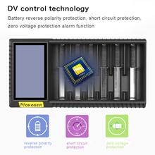 NOKOSER D6U 6 Yuvası LCD Akıllı Li-Ion/LiFePO4 Pil Şarj Edilebilir ni-Mh/Ni-Cd AAA/SC 26650/18650 Piller
