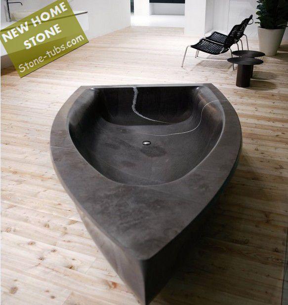 Pequeño cuarto de baño ideas forma barco de piedra de mármol ...