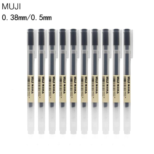 MUJI 3pcs Gel Pen Black Blue Red Ink Color Pens 0 5mm 0 38mm Pens School